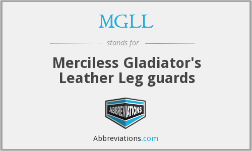 MGLL - Merciless Gladiator's Leather Leg guards