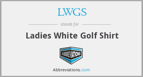 LWGS - Ladies White Golf Shirt