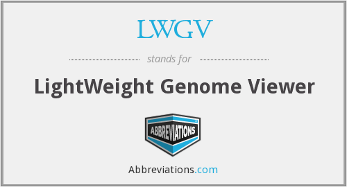 LWGV - LightWeight Genome Viewer