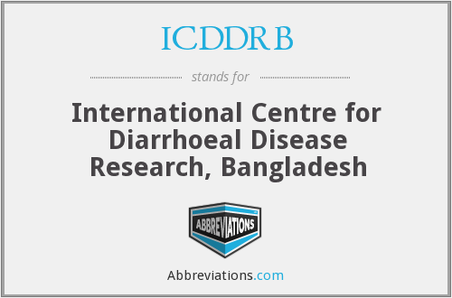 What does ICDDRB stand for?
