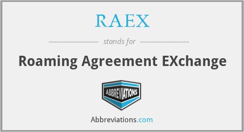 Raex Roaming Agreement Exchange