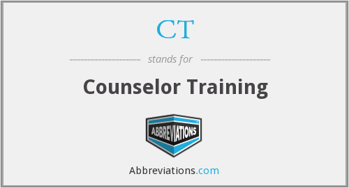 CT - Counselor Training