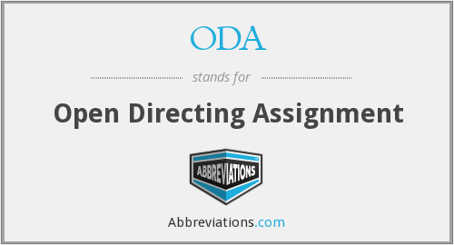 ODA - Open Directing Assignment
