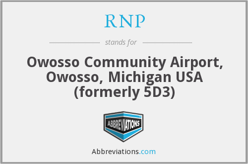 RNP - Owosso Community Airport, Owosso, Michigan USA (formerly 5D3)