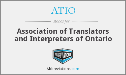 ATIO - Association of Translators and Interpreters of Ontario