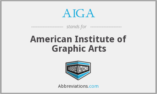 AIGA - American Institute of Graphic Arts