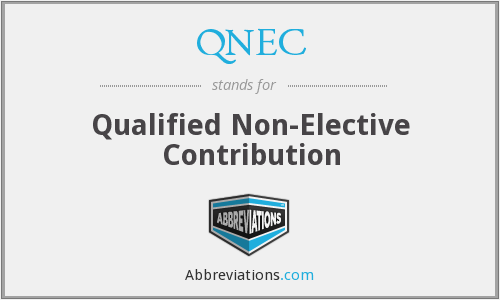 What does QNEC stand for?