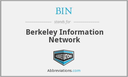 BIN - Berkeley Information Network