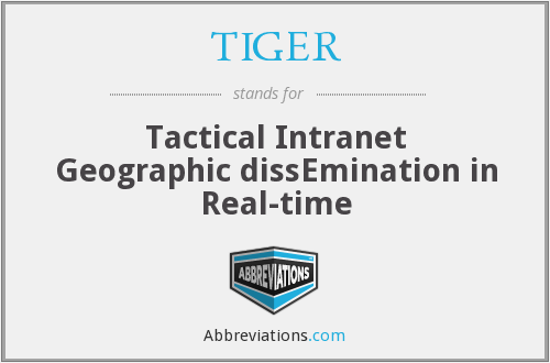 TIGER - Tactical Intranet Geographic dissEmination in Real-time