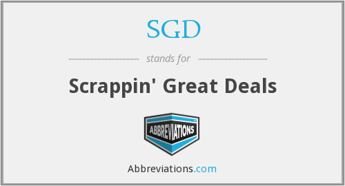 SGD - Scrappin' Great Deals