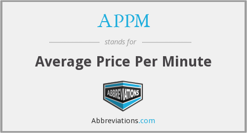 APPM - Average Price Per Minute