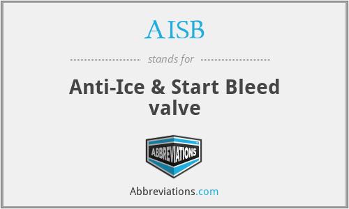 AISB - Anti-Ice & Start Bleed valve