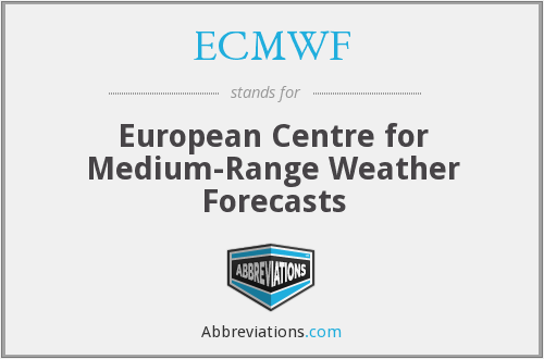 What does ECMWF stand for?