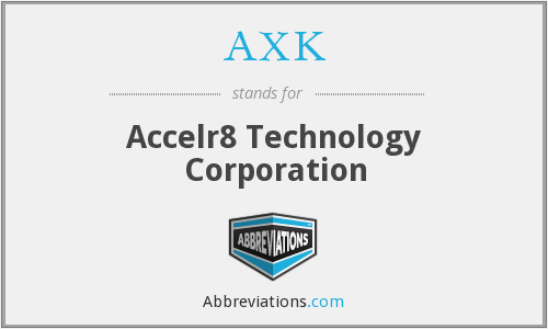 AXK - Accelr8 Technology Corporation