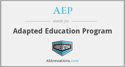 AEP - Adapted Education Program