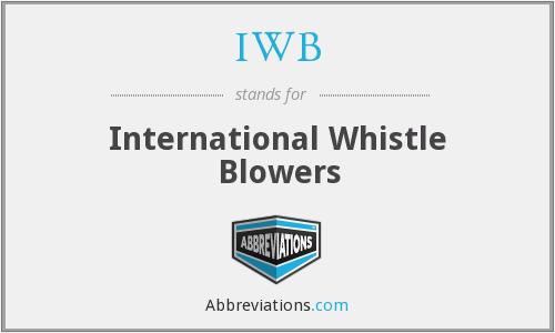 IWB - International Whistle Blowers