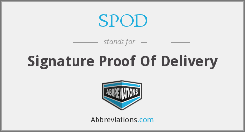 SPOD - Signature Proof Of Delivery