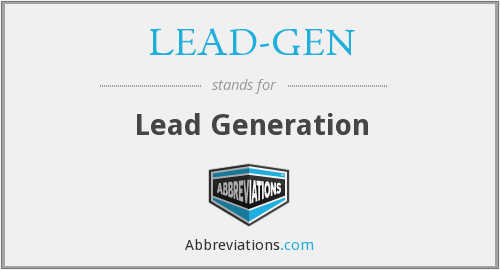 What does LEAD-GEN stand for?