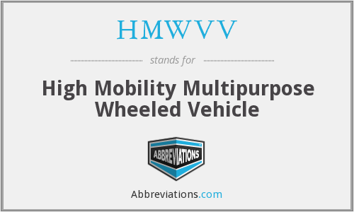 HMWVV - High Mobility Multipurpose Wheeled Vehicle