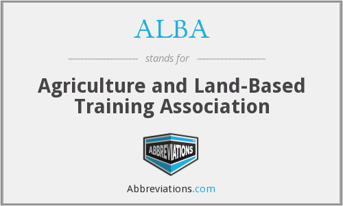 ALBA - Agriculture and Land-Based Training Association