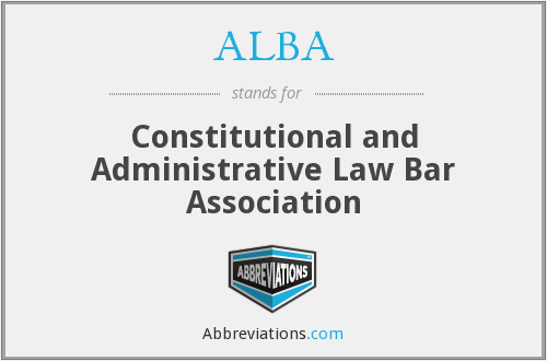 ALBA - Constitutional and Administrative Law Bar Association