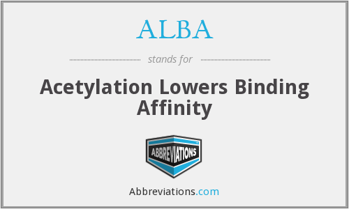 ALBA - Acetylation Lowers Binding Affinity