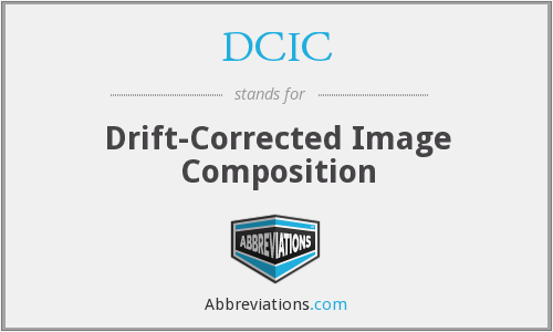 DCIC - Drift-Corrected Image Composition
