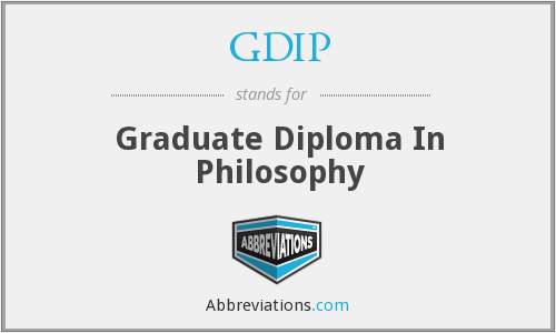 GDIP - Graduate Diploma In Philosophy