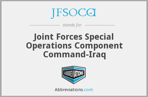 What does JFSOCC-I stand for?