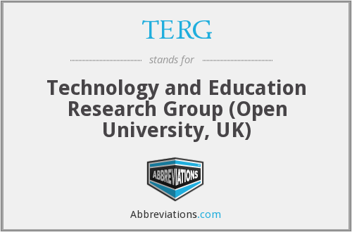 TERG - Technology and Education Research Group (Open University, UK)
