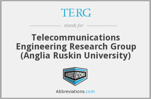 TERG - Telecommunications Engineering Research Group (Anglia Ruskin University)