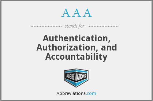 AAA - Authentication, Authorization, and Accountability