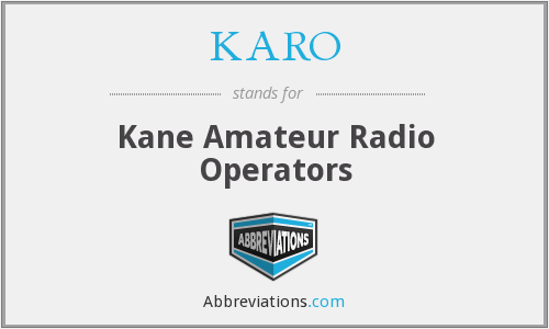 KARO - Kane Amateur Radio Operators