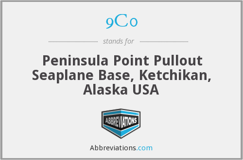 9C0 - Peninsula Point Pullout Seaplane Base, Ketchikan, Alaska USA