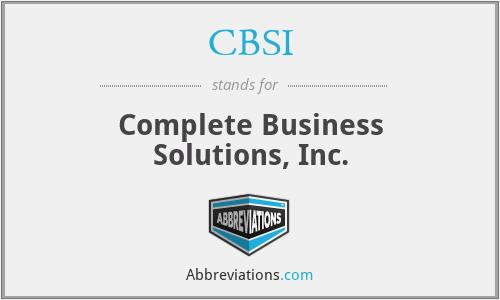 CBSI - Complete Business Solutions, Inc.