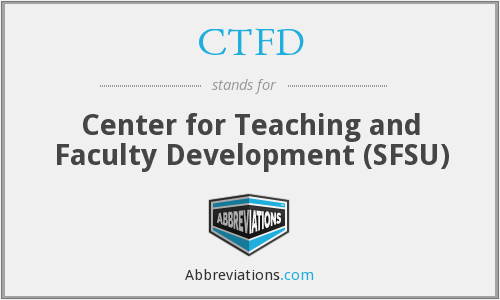 CTFD - Center for Teaching and Faculty Development (SFSU)
