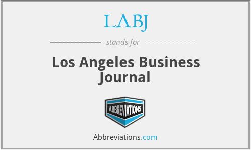 LABJ - Los Angeles Business Journal