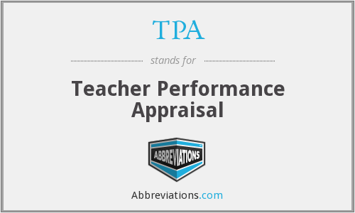 TPA - Teacher Performance Appraisal