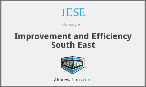 IESE - Improvement and Efficiency South East