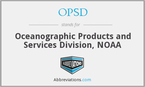 OPSD - Oceanographic Products and Services Division, NOAA
