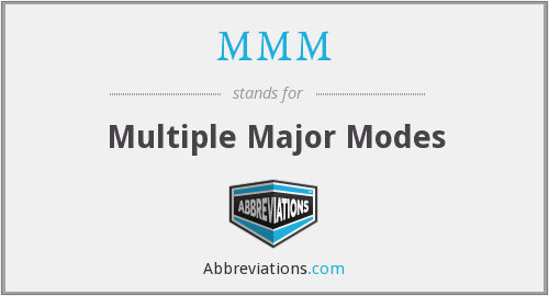 MMM - Multiple Major Modes
