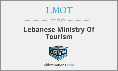 LMOT - Lebanese Ministry Of Tourism
