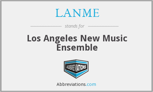 What does LANME stand for?