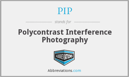 PIP - Polycontrast Interference Photography