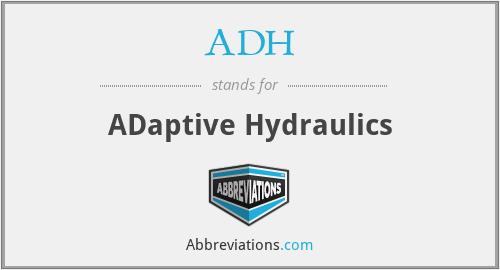 ADH - ADaptive Hydraulics