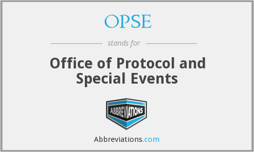OPSE - Office of Protocol and Special Events