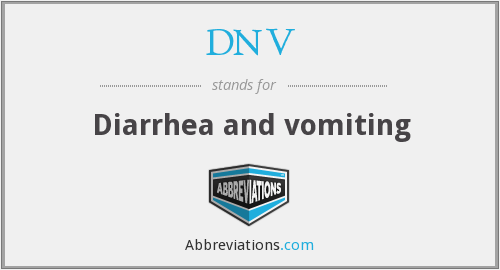 DNV - Diarrhea and vomiting