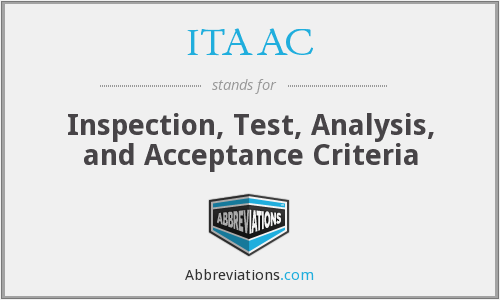 What does ITAAC stand for?