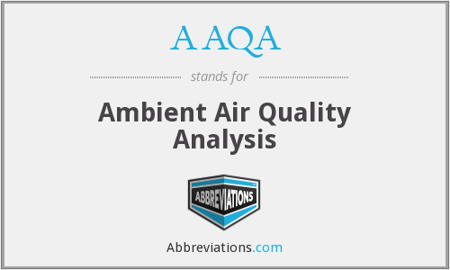 AAQA - Ambient Air Quality Analysis