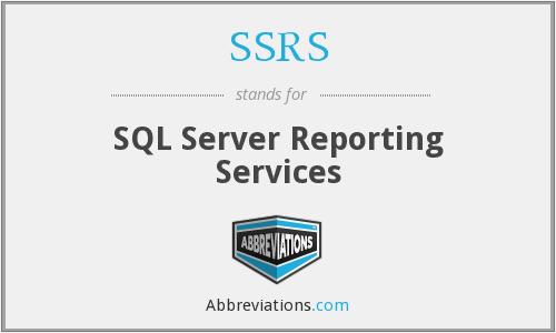 SSRS - SQL Server Reporting Services
